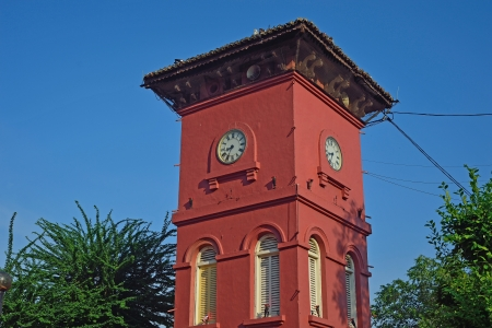 malacca historic old clock tower  photo