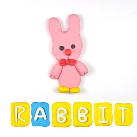 Farbe für Kinder Plastilin Kaninchen