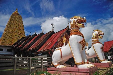 stu: Golden Pagoda in the province of Kanchanaburi, Thailand