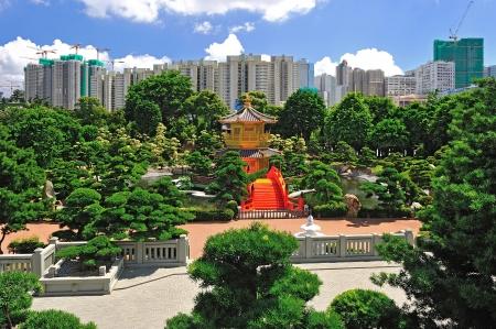 The Pavilion of Absolute Perfection in the Nan Lian Garden, Hong Kong. Stock Photo - 21979497