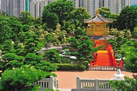 far eastern: The Pavilion of Absolute Perfection in the Nan Lian Garden, Hong Kong.