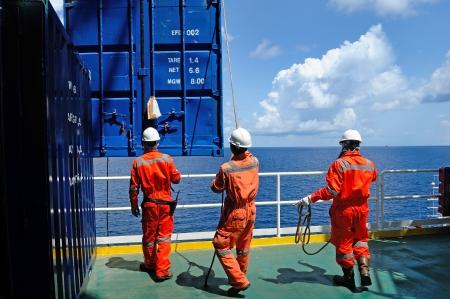 offshore worker on the platform rig