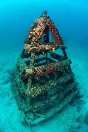 mabul: artificial reef in Mabul, kapalai, Malaysia Stock Photo