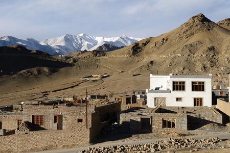 leh: Old town in Leh, Ladakh.