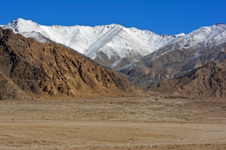 landscape around Indus River, Ladakh, India  photo