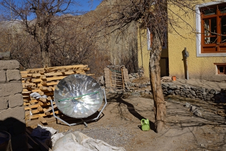 solar cooker, Zanskar, Ladakh, India Stock Photo - 24235930