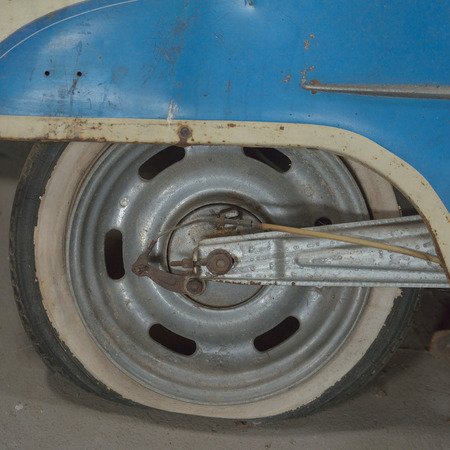 Motorcycle front wheel was demolished photo