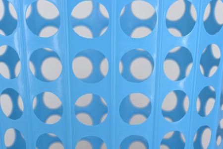close up of Blue basket isolated on white photo