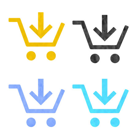 plasticine: Shopping icons made from plasticine Stock Photo
