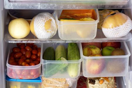 Refrigerator Full of Healthy Food photo