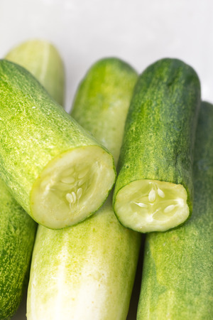 sliced cucumbers photo