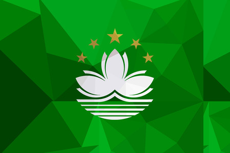 macau: Macau flag - triangular polygonal pattern