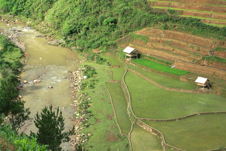 lao: Most Beautiful Rice Terrace in Sapa, Lao cai, Vietnam