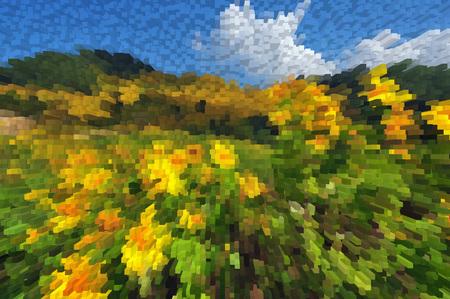 nature abstraite: Colorful extrusion r�sum� nature fond