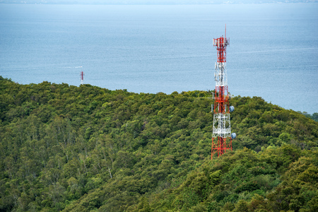telecoms: Telecoms tower on Koh Larn, Pattaya, Thailand