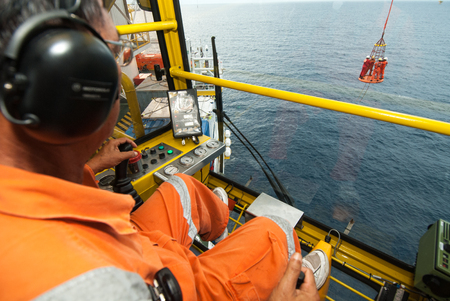 worker: worker on offshore rig