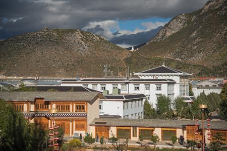 shangrila: Tibetan Temple in Shangrila, Yunnan, China Stock Photo