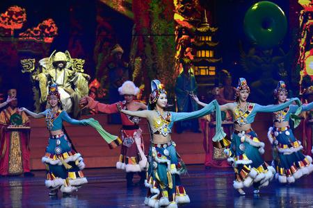 live performance: Lijiang, China - October 23, 2015: Romantic Show of Lijiang live performance on October 23, 2015
