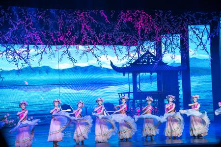 live performance: Lijiang, China - October 22, 2015: Romantic Show of Lijiang live performance on October 23, 2015