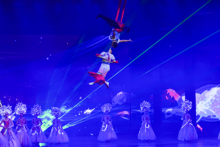 finery: Lijiang, China - October 23, 2015: Romantic Show of Lijiang live performance on October 23, 2015