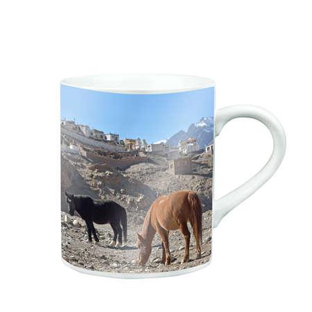 caballo bebe: Mug Of Tea Or Coffee with photo screen