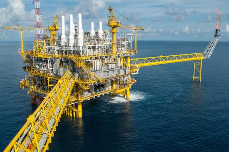 construction platform: Oil and gas platform or Construction platform Stock Photo