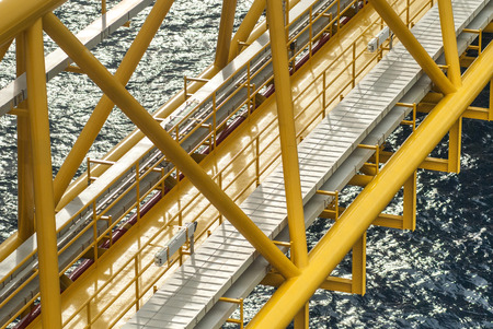 drilling well: Oil and gas platform or Construction platform Stock Photo