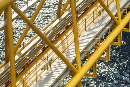 rig: Oil and gas platform or Construction platform Stock Photo