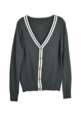 grey cardigan isolated on a white