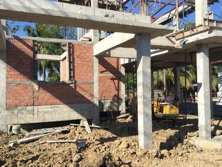 Nuova casa in stile moderno costruzione