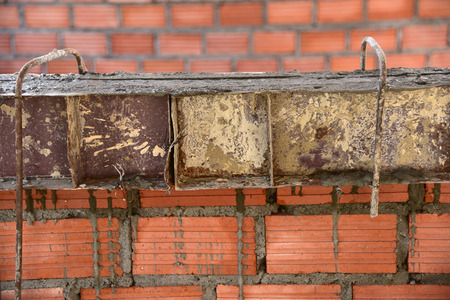 housebuilding: steel construction and wall brick