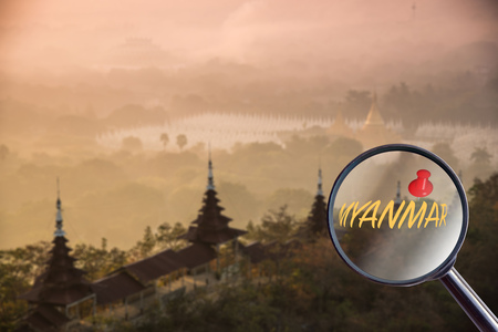 attraction: magnifying glass Myanmar attraction