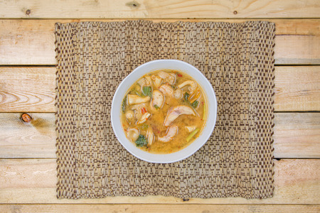 yum: Spicy tom yum soup with snapper fish