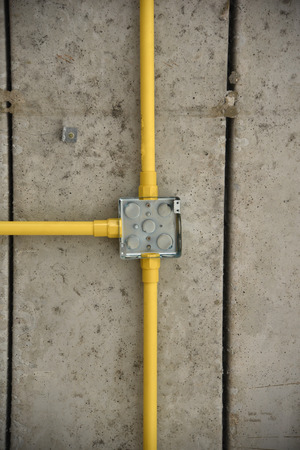 plastic conduit: Piping and electric cables in Construction