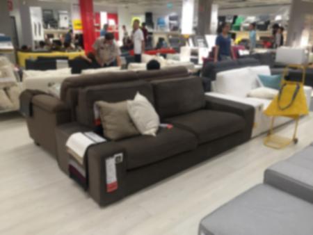 furniture store: Furniture store blur background Stock Photo