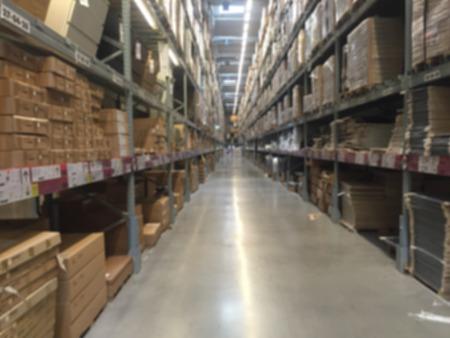 storehouse: warehouse or storehouse blur defocused