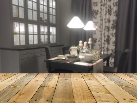 showroom: blur of modern kitchen for decorating home showroom