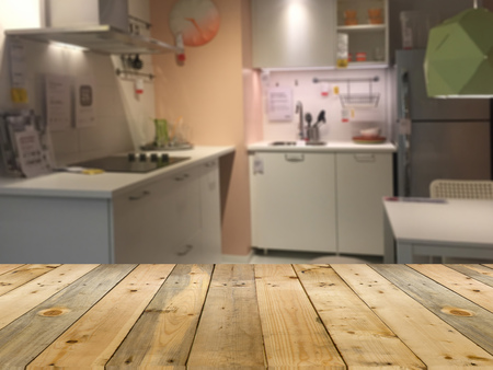 home decorating: blur of modern kitchen for decorating home showroom