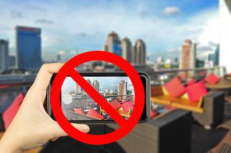 forbid: forbid sign no photo area Stock Photo