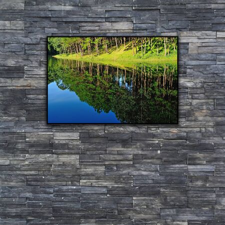 black brick wall texture. stonewall pattern design for decorated and interior with nature photo frame