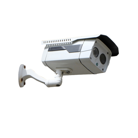 CCTV camera isolated with clipping path
