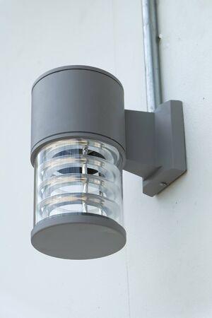 wall lamp: modern wall lamp new installed Stock Photo