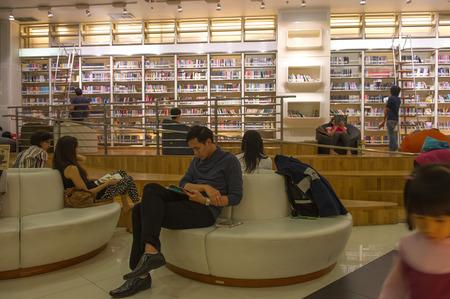 tk: Bangkok, Thailand. - Nov 25, 2012 : people reading in TK park library on November 25, 2012, Bangkok, Thailand.