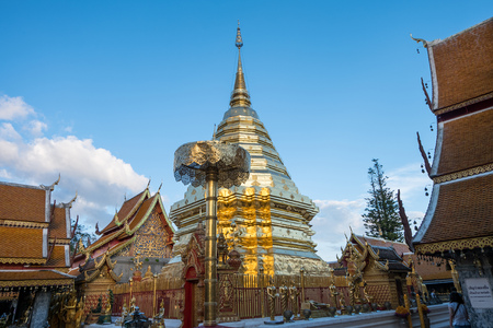 Wat Phra That Doi Suthep is tourist attraction of Chiang Mai, Thailand.Asia. Stock Photo
