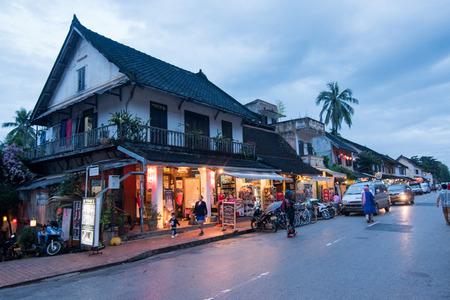 devotee: Luang Prabang-LAOS, NOVEMBER 8, 2016: architecture around old city in Luang Prabang, Laos