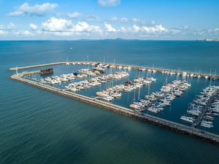 Aerial view ot Pattaya yatch harbour in Chonburi, Thailand Stock Photo