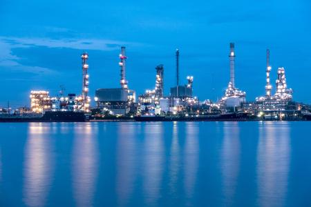 Bangkok Thailand 12 MAY 2017 : oil refinery near the Chao pra ya river, Bangkok, Thailand.