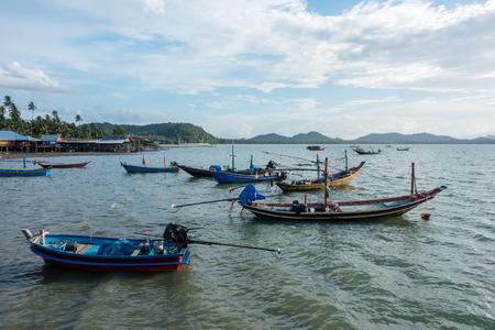 Koh Phitak fishing village and home stay, Chumphon, Thailand. Stock Photo
