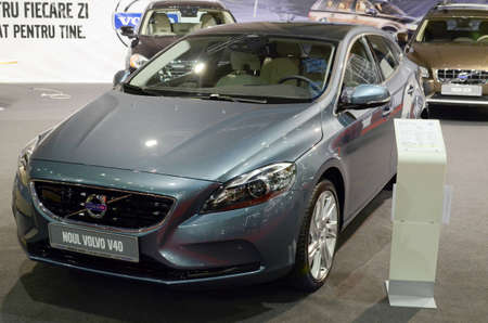 Bucharest, Romania, October 25, 2012 - Volvo V40 presented at SAB 2012 auto show