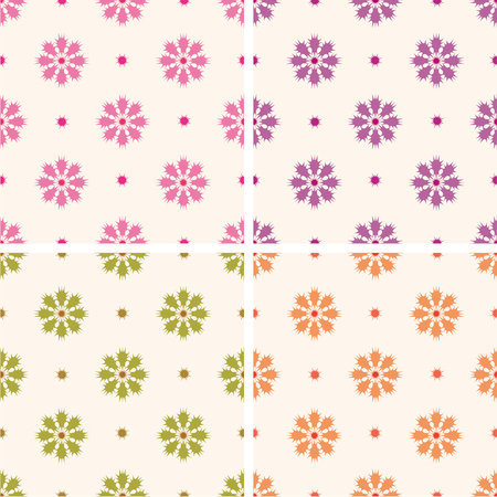 flower patterns: Continuous printing flower patterns